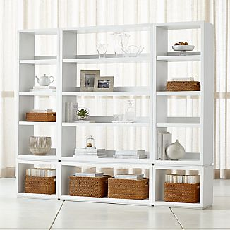 living room storage units colour theme ideas crate and barrel aspect white 6 piece open unit