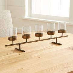 Springs For Dining Chairs Chair Steel Design Asta Brass Tea Light Centerpiece | Crate And Barrel