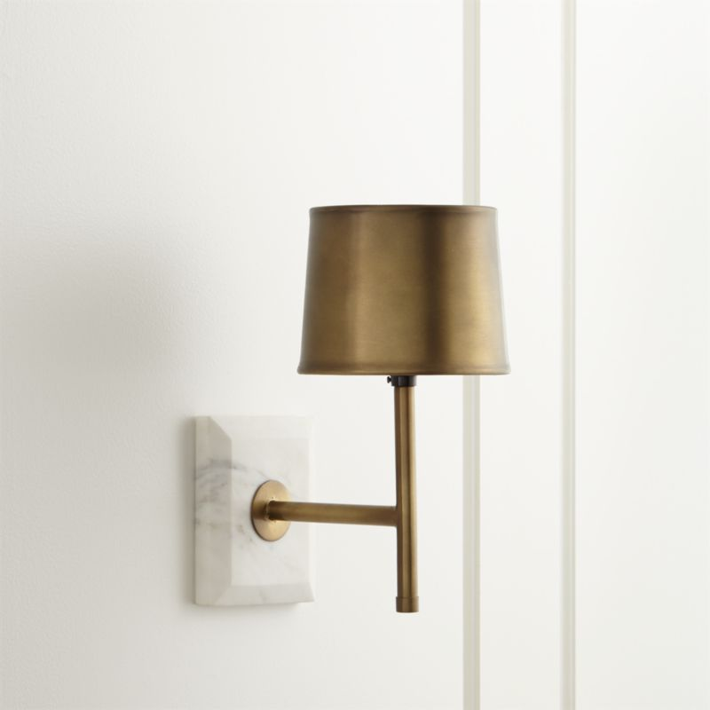 Astor Brass Sconce  Reviews  Crate and Barrel