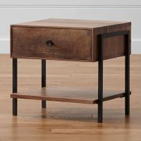 Atwood Reclaimed Wood Nightstand | Crate and Barrel