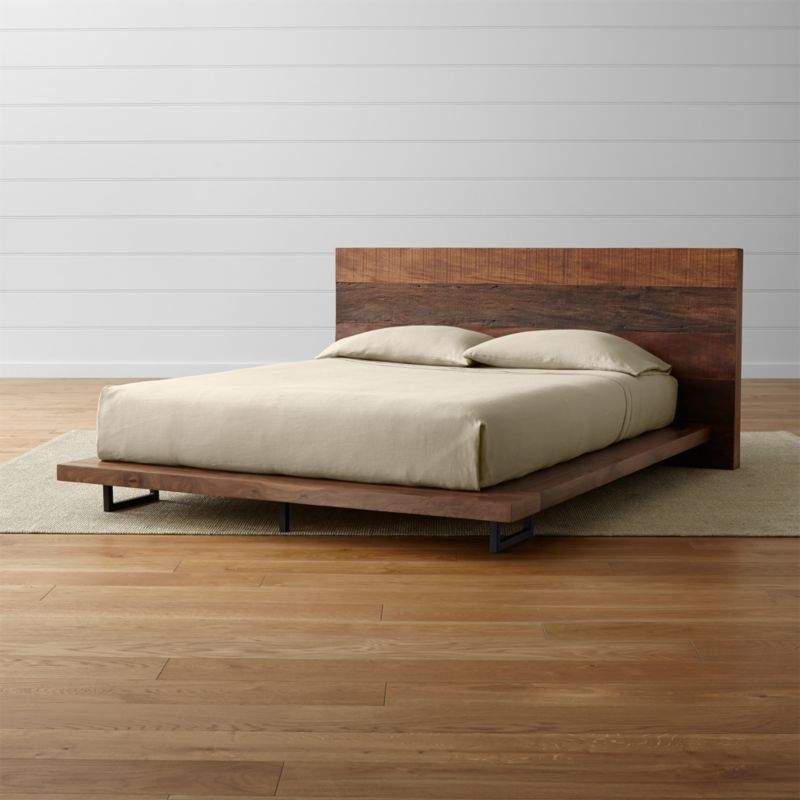 Atwood Reclaimed Wood Queen Bed + Reviews
