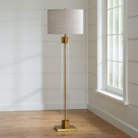 Avenue Brass Floor Lamp + Reviews | Crate and Barrel