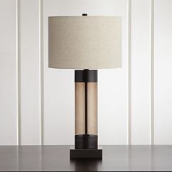 Lamps For Living Room Gray Leather Furniture Crate And Barrel Avenue Bronze Table Lamp With Usb Port Set Of 2