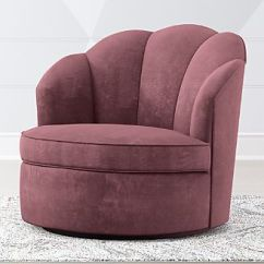Crate And Barrel Rocking Chair Covers Designs Chairs Gliders Avery Dusty Mauve Velvet Swivel