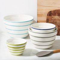 Avery Striped Mixing Bowls, Set of 4 + Reviews | Crate and ...