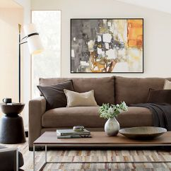 How To Clean Fabric Sofa Arms Faux Leather Slipcover Axis Ii Dark Brown Sleeper | Crate And Barrel
