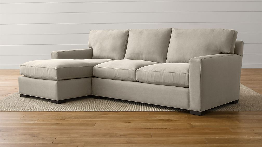 elliot fabric sectional living room furniture collection pottery barn ideas 2 piece sofas cool fancy sofa ...