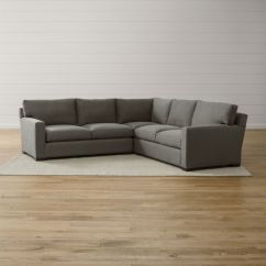 Axis Sofa Reviews Army Acronyms Ii 3-piece Grey Sectional + | Crate And Barrel