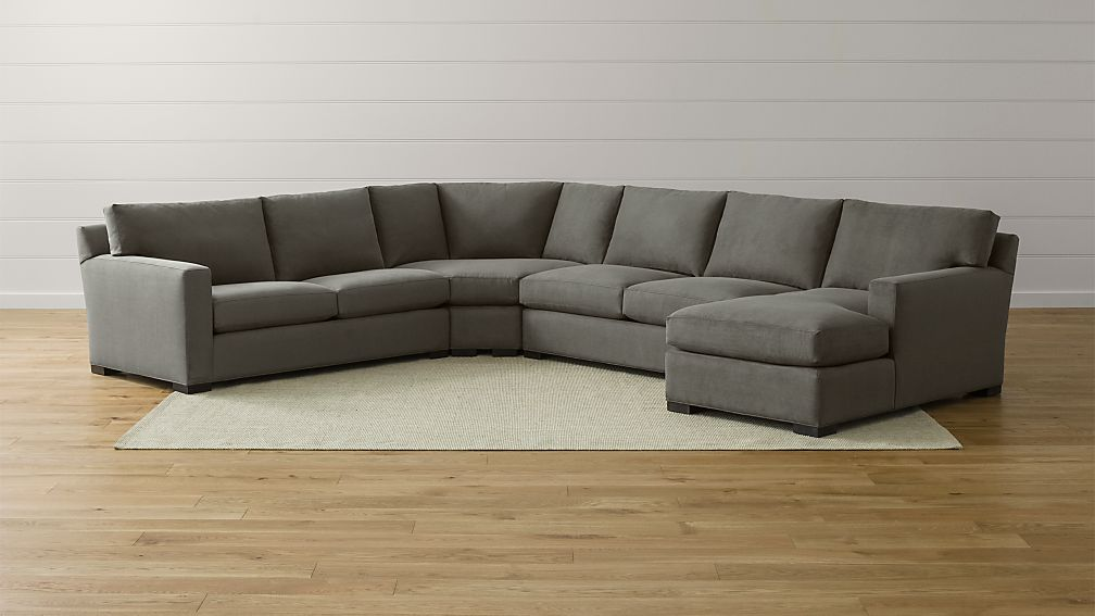 crate and barrel davis sofa leather country cottage covers 4 piece sectional axis ii couch ...