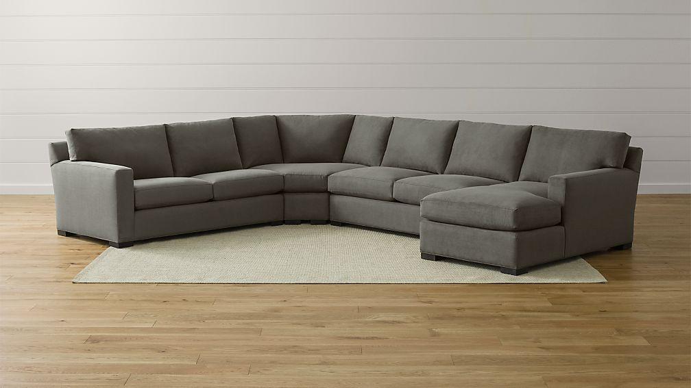 axis sofa reviews roche bobois mah jong size ii grey corner sectional | crate and barrel