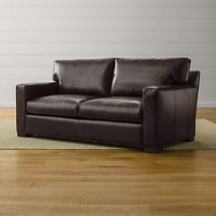 All Leather Sofa Bed Wide Uk Beds Crate And Barrel Axis Ii Full Sleeper