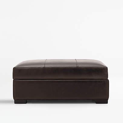 https www crateandbarrel com axis ii leather storage ottoman s236608