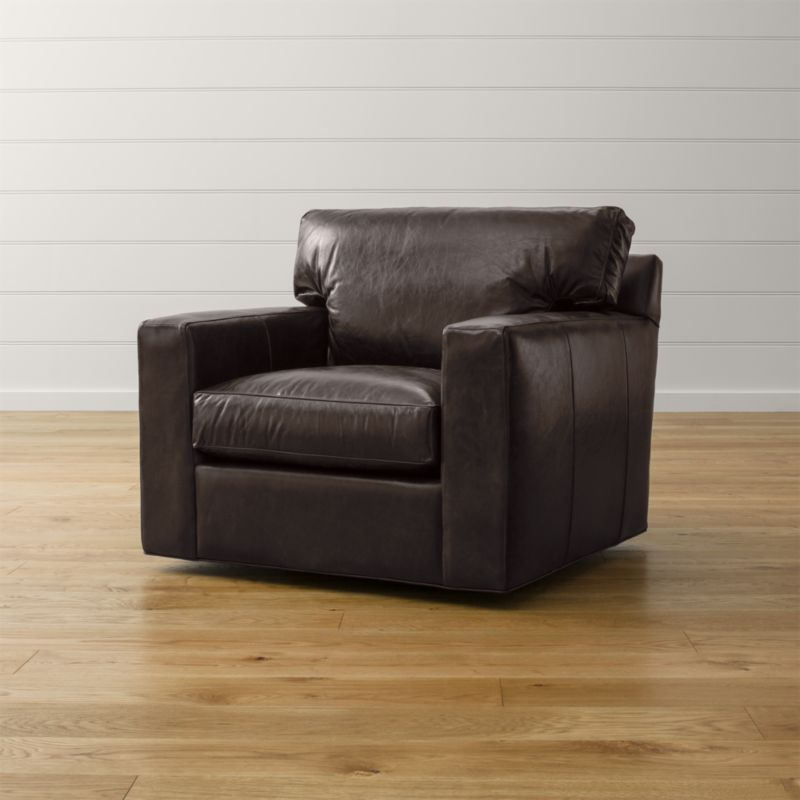 Axis II Leather Swivel Chair  Reviews  Crate and Barrel