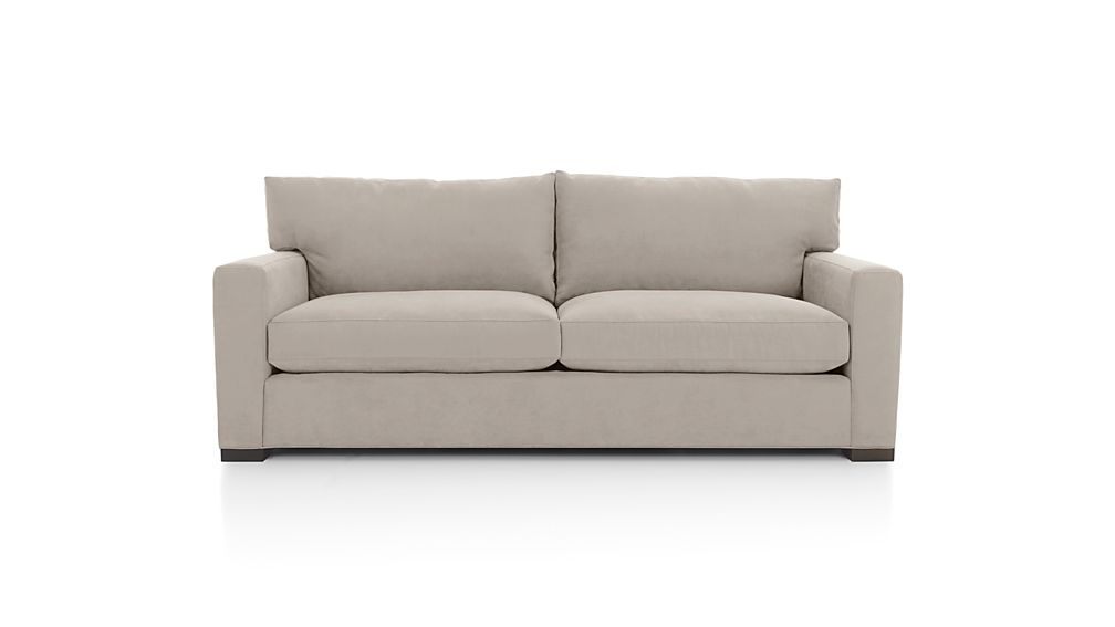 Axis II Grey 2 Seat Couch Crate And Barrel