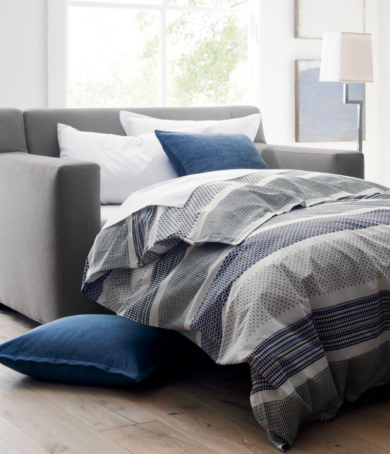 axis sofa reviews full air dream sleeper replacement mattress medina duvet covers and pillow shams | crate barrel