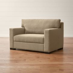 Crate And Barrel Sleeper Sofa Condo Size Bed Axis Ii Twin Ultra Memory Foam + Reviews ...