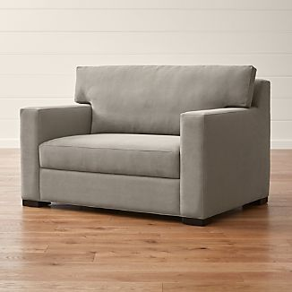 twin pull out chair camping accessories sleeper sofas crate and barrel axis ii ultra memory foam sofa