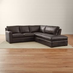 Leather Sectional Sofas Vintage Retro Sofa Axis Ii Dark Brown Couch Reviews Crate And Barrel Axislthr2pcsclacrnsfraespshs16 16x9