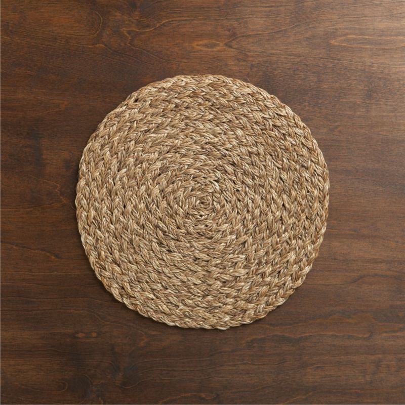 small round kitchen tables commercial hood parts bali dark woven placemat + reviews | crate and barrel