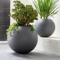 Large Indoor Planter Pots. Interesting Mango Wood Planter ...