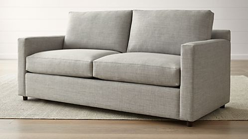 one arm sofa name klippan review sofas couches and loveseats crate barrel barrett track