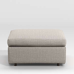 cocktail ottomans crate and barrel