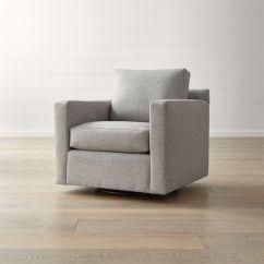 Comfortable Swivel Chair Cover And Sash Hire Gretna Green Barrett Track Arm Reviews Crate Barrel