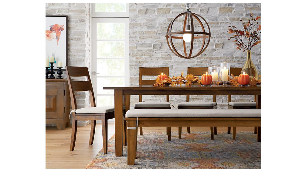 Basque Honey 65 Dining Table Crate And Barrel