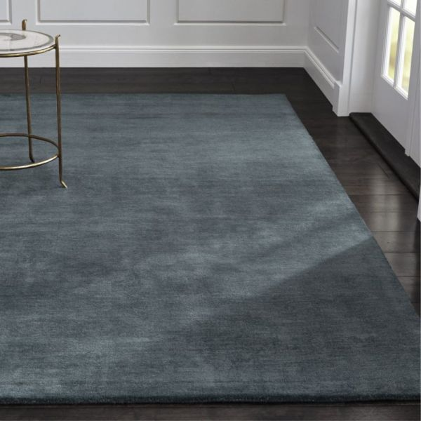 Baxter Blue Wool Rug Crate And Barrel