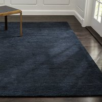 Baxter Indigo Blue Wool Rug   Crate and Barrel