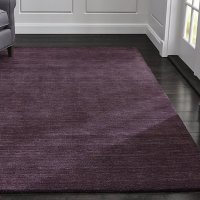 Baxter Plum Purple Wool Rug | Crate and Barrel