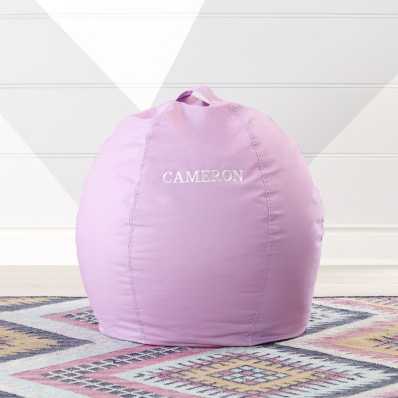 bean bag chair covers kitchenette table and sets small light purple cover reviews crate barrel