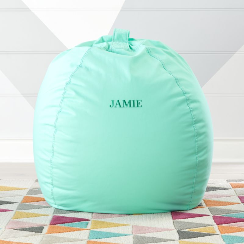 teal bean bag chair lawn cushion covers large grey reviews crate and barrel