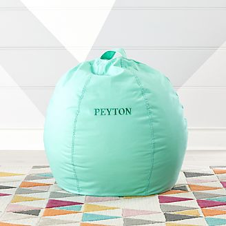 mini bean bag chair kids potty floor pillows chairs poufs crate and barrel small mint