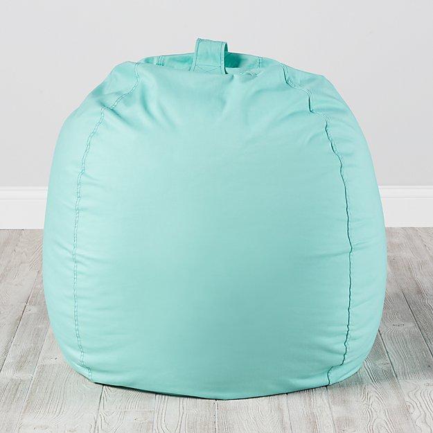 teal bean bag chair weird pics large mint reviews crate and barrel