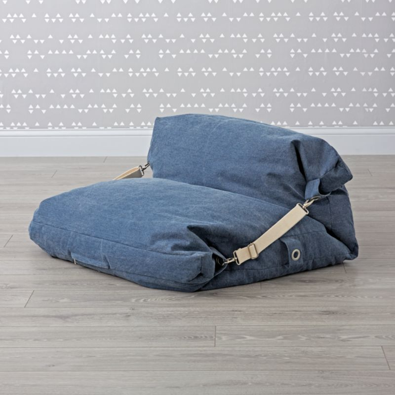 blue bean bag chairs modern high back uk kids bed chair reviews crate and barrel