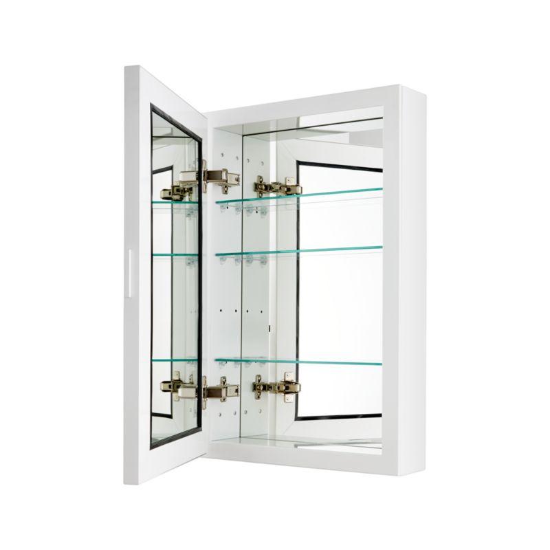 Beau Small White Medicine Cabinet in Bath Storage