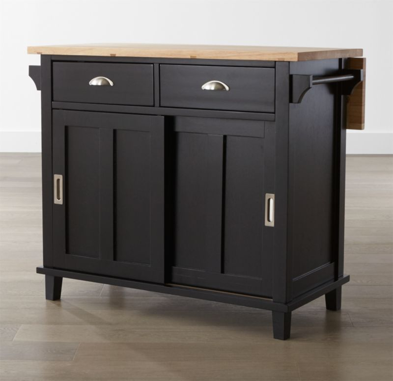 kitchen island carts outside belmont black reviews crate and barrel save 10