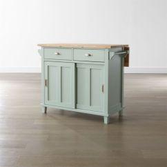 Kitchen Island Carts Cabinet Drawer Hardware Belmont Mint Reviews Crate And Barrel Belmontkitchenislandmintshf16 1x1