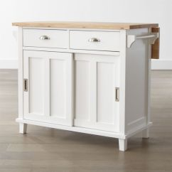 Kitchen Island Carts Sink Base Cabinet Sizes Shop Stylish Islands Crate And Barrel Belmont White
