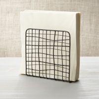 Bendt Wire Napkin Holder | Crate and Barrel