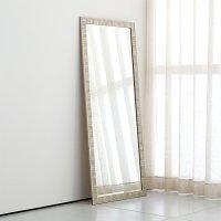 Birch Silver Floor Mirror | Crate and Barrel