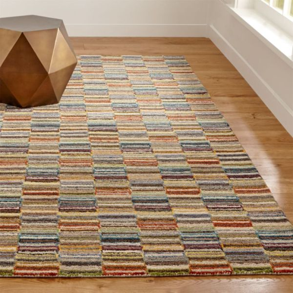 Bix Striped Wool Rug Crate And Barrel