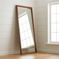 Blair Walnut Floor Mirror + Reviews | Crate and Barrel