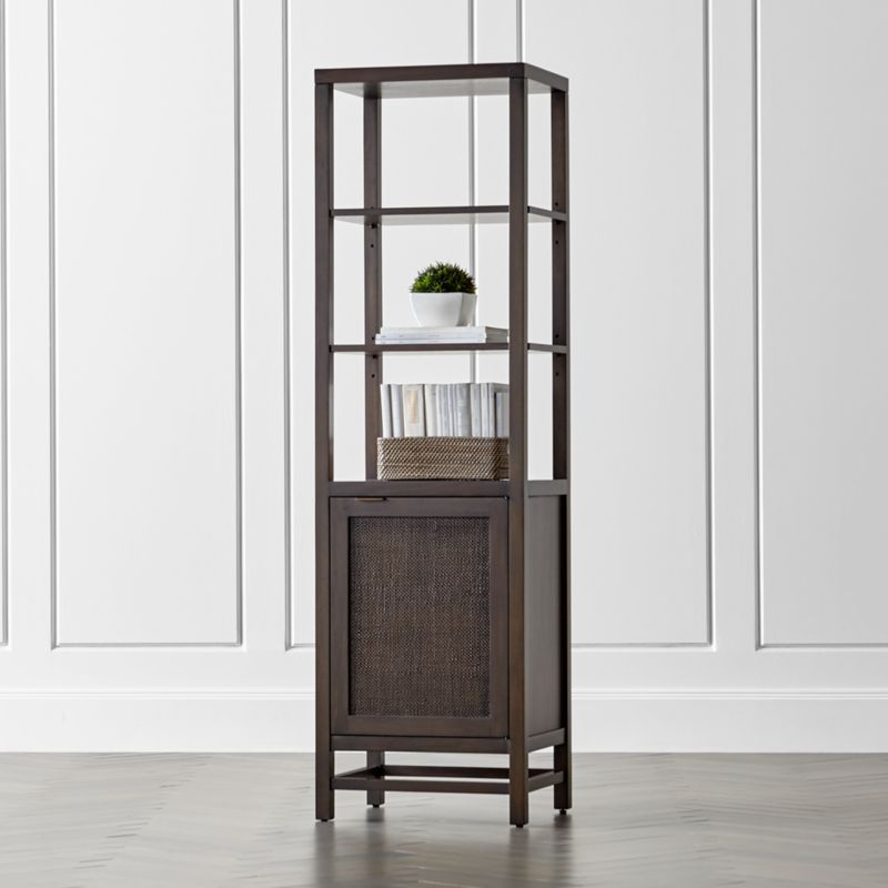 Blake Carbon Tall Cabinet  Reviews  Crate and Barrel