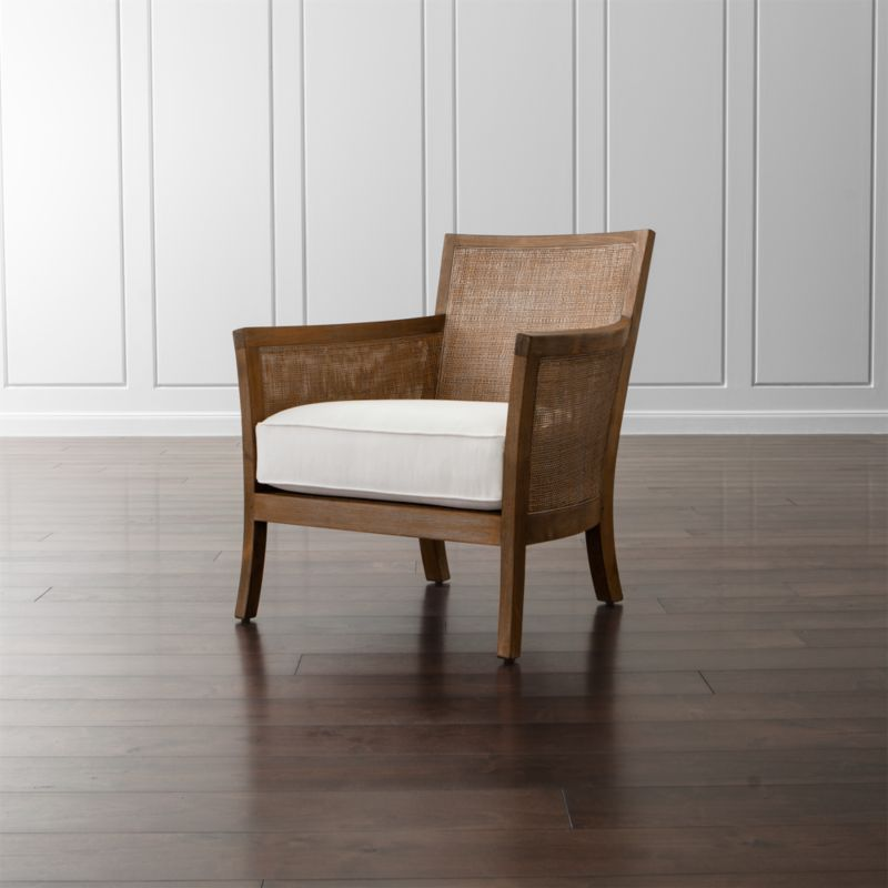 crate and barrel rocking chair cozzia massage review blake rattan white cushioned reviews