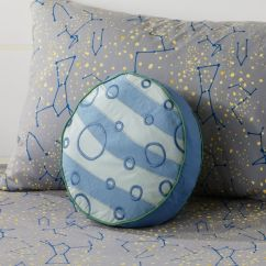 Accent Chairs For Small Spaces Dining Room Sale Kids' Throw Pillows: Kids Solar System & Planet Pillow | Crate And Barrel