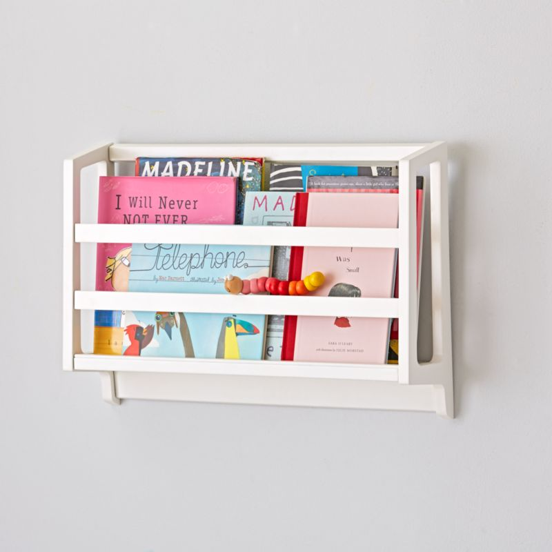 White Wall Book Bin Crate And Barrel