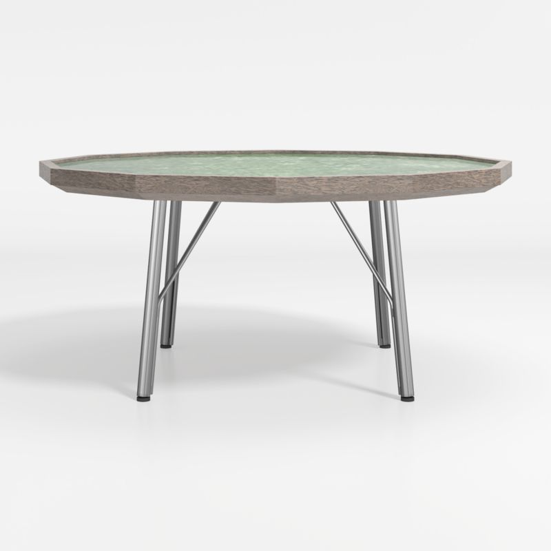 bradshaw green marble coffee table reviews crate and barrel
