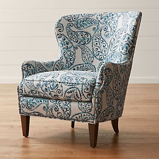 jarvis chair oz design desk covers dorm new clearance and outlet crate barrel brielle nailhead wingback